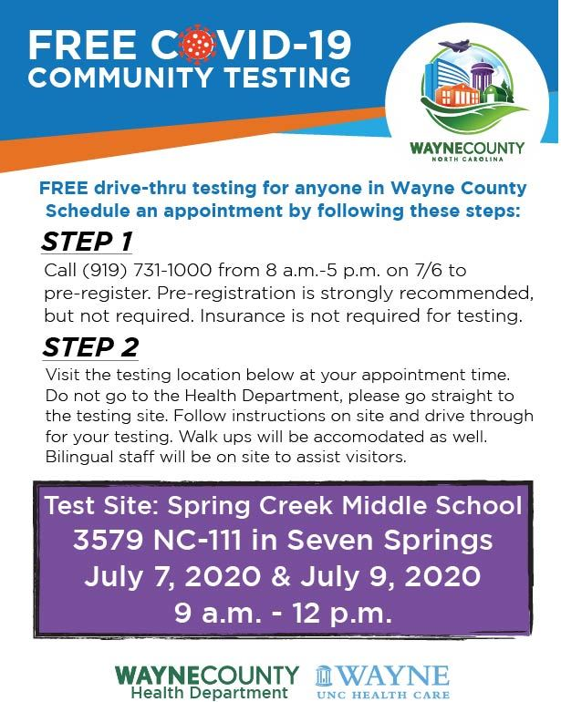 Community Testing Spring Creek Poster